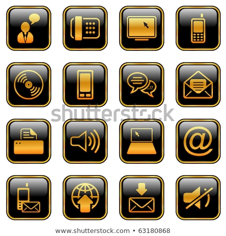 printer golden vector icon button stock photo © rizwanali3d