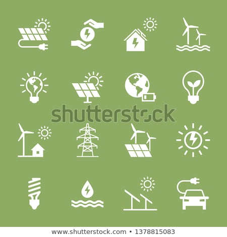 Nukleáris felirat zöld vektor ikon gomb internet Stock fotó © rizwanali3d