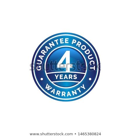 4 Years Warranty Blue Vector Icon Design Stock photo © rizwanali3d
