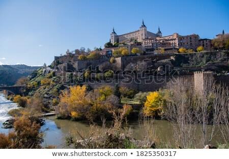 Top een steden Spanje bronzen steen Stockfoto © rmbarricarte