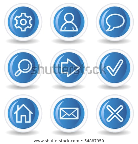 gear blue vector icon button stock photo © rizwanali3d