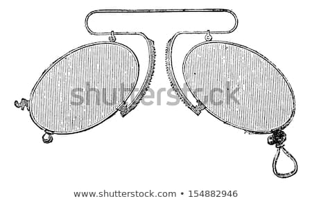 Glasses - a nose clip spacing mobile, vintage engraving. Stock photo © Morphart