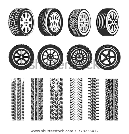 set of wheels and tires for the car stock photo © ruslanomega