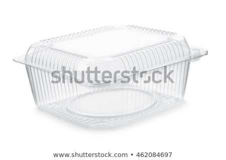 Blanche plastique alimentaire contenant isolé Photo stock © shutswis