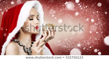 Beautiful woman portrait, Christmas themed Stock photo © igabriela