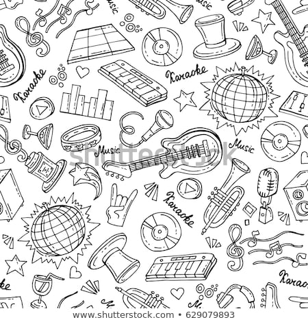 Theme of karaoke pattern Stock photo © netkov1