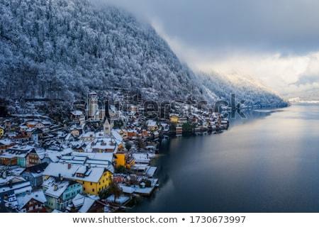 альпийский · деревне · озеро · Австрия · традиционный - Сток-фото © meinzahn