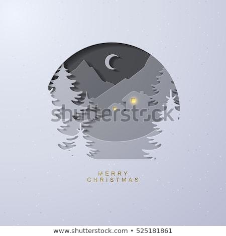 3D moonlit landscape Stock photo © kjpargeter