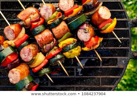 Sausage skewer Stock photo © Digifoodstock