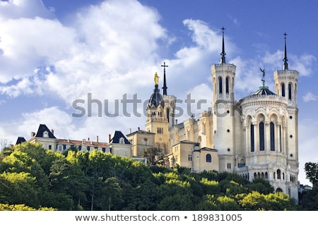 Lyon templom bazilika Franciaország épület fény Stock fotó © vichie81