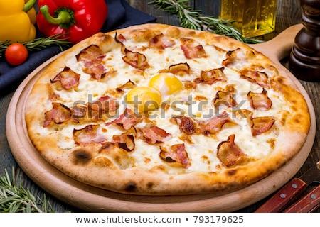 Tojások sült mini húsvét pizza étel Stock fotó © badmanproduction