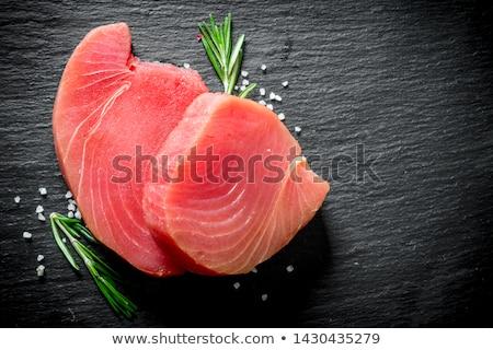 fresco · atum · peixe · bife · pronto · cozinhar - foto stock © dmitroza