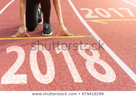 2017 Happy New Year, athletics sport running track concept Stock photo © stevanovicigor