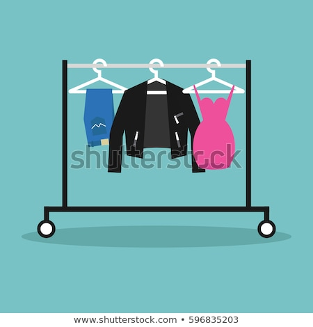 Clothing rail with hangers icon Stock photo © angelp