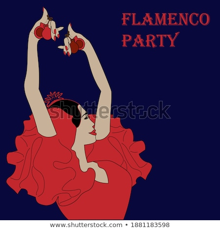 фламенко вечеринка карт бумаги моде фон Сток-фото © carodi