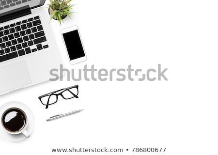 Neat clean desk with laptop computer Stock photo © ozgur
