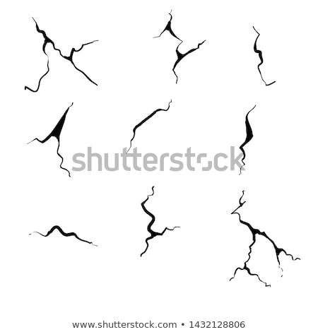 cracked glass sketch icon stock photo © rastudio