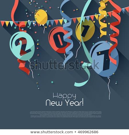 soyut · happy · new · year · grafik · metin · stil · mutlu - stok fotoğraf © davidarts