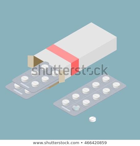 Csomag orvosi tabletták illusztráció fehér háttér Stock fotó © bluering