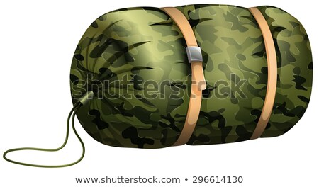 álca alszik táska fehér illusztráció háttér Stock fotó © bluering