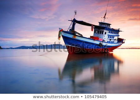 Eski Taylandlı stil tekne deniz doğa Stok fotoğraf © bank215