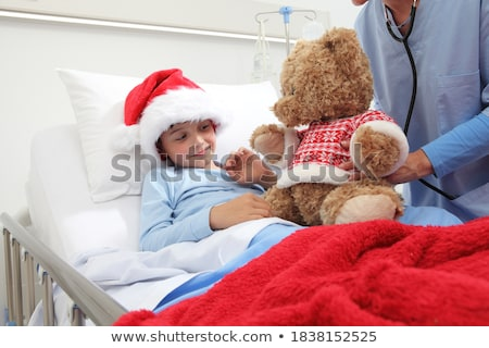 Ill child in hospital Stock photo © zurijeta