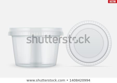 plastique · emballage · variété · alimentaire · fromages · crème - photo stock © magraphics