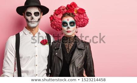 Halloween couple in studio Stock photo © bezikus