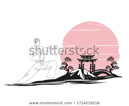 Doodle worstelen illustratie sport achtergrond Stockfoto © bluering
