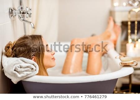 Foto stock: Banho · imagem · relaxante · mulher