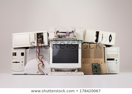 Oude computer onderdelen abstract technologie Stockfoto © 5xinc
