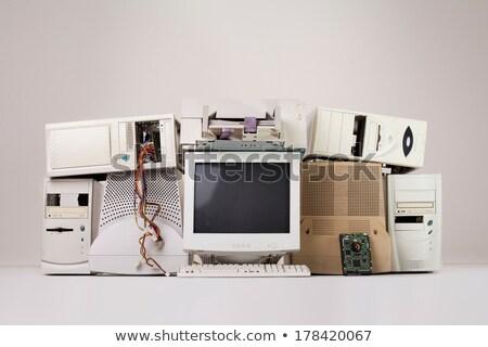 eski · bilgisayar · soyut · teknoloji - stok fotoğraf © 5xinc