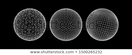 sphere wireframe technology background vector design illustratio Stock photo © SArts