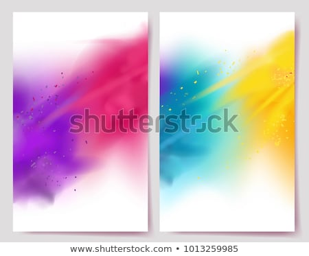 colorful holi festival flyer with paint Stock photo © SArts