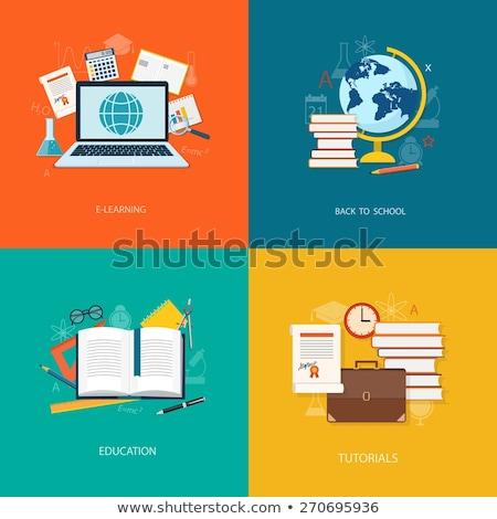 University - single flat design icon Stock photo © Decorwithme