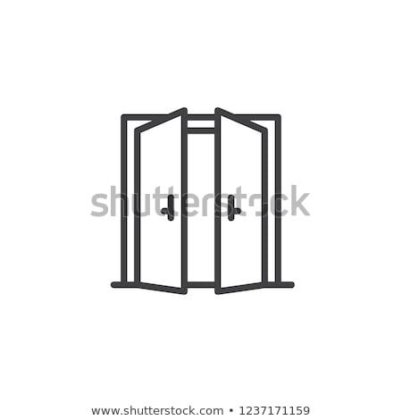 удвоится · открытых · дверей · свет · иллюстрация · черный · пусто - Сток-фото © sdcrea