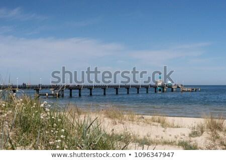 pier, Vineta bridge and submarine at Zinnowitz Stock photo © meinzahn