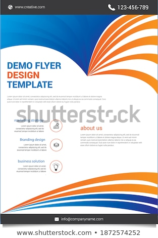 stylish blue business brochure creative design in size a4 Stock photo © SArts