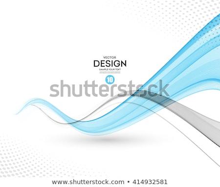 Füstös kék hullám szürke háttér füst Stock fotó © SArts