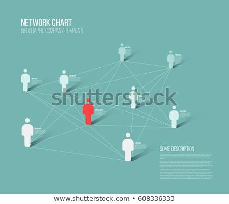 ミニマリスト ネットワーク 3D グラフ 人 図 ストックフォト © orson