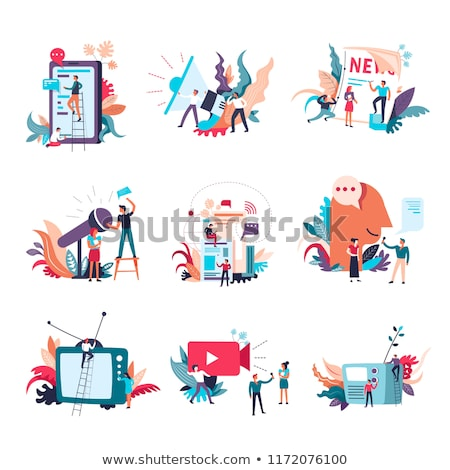 News and journalism, conceptual illustration Stock photo © stevanovicigor