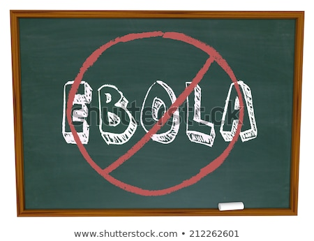 Chalkboard with Ebola Virus. 3D Illustration. Stock photo © tashatuvango