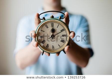Cartoon · будильник · улыбка · детей · счастливым · часы - Сток-фото © rastudio