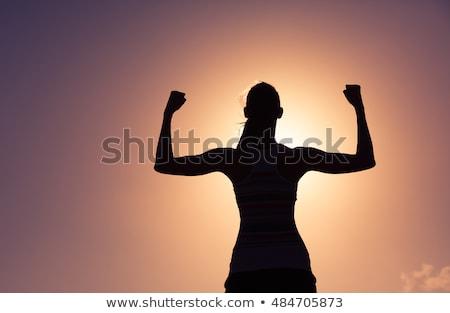 Menina músculos silhueta esportes beleza Foto stock © kokimk