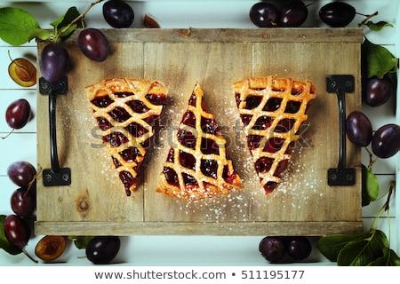 Prugna jam crostata bianco alimentare colazione Foto d'archivio © Digifoodstock