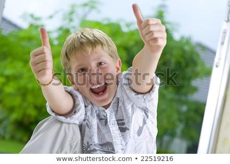 Erkek işaret kız serin Avrupa Stok fotoğraf © IS2
