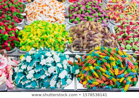 Orange sugar candy pile on street market Stock photo © stevanovicigor