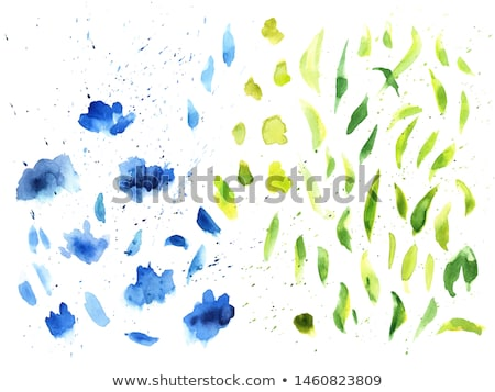 Green Blot isolated Stock photo © barbaliss