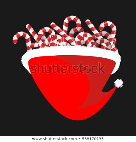 Cap snoep riet christmas mint Stockfoto © popaukropa