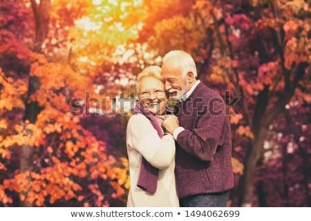 Senior homem beijando mulher bochecha amor Foto stock © IS2
